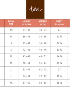 Tea collection kids size chart also shoes charts and sizing help tinysoles rh
