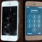 Iphone 5 before and after screen repair