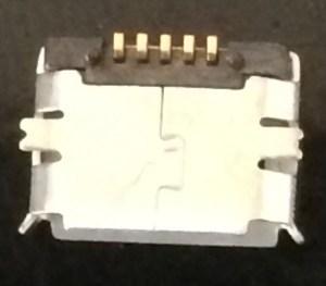 New USB port ready for soldering
