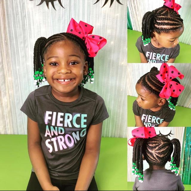 Cornrows with Natural Hair - Our Services
