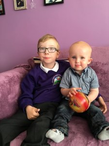 Oscar today with his big brother