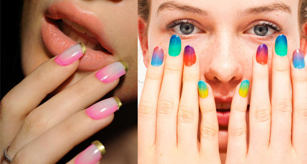 Colorful Nail Art With A Makeup Sponge