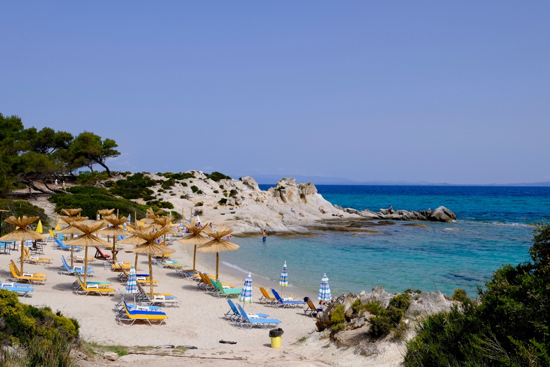 Orange Beach Beach Bar-Portokali, beach in Kavourotrypes, Sithonia, Halkidiki