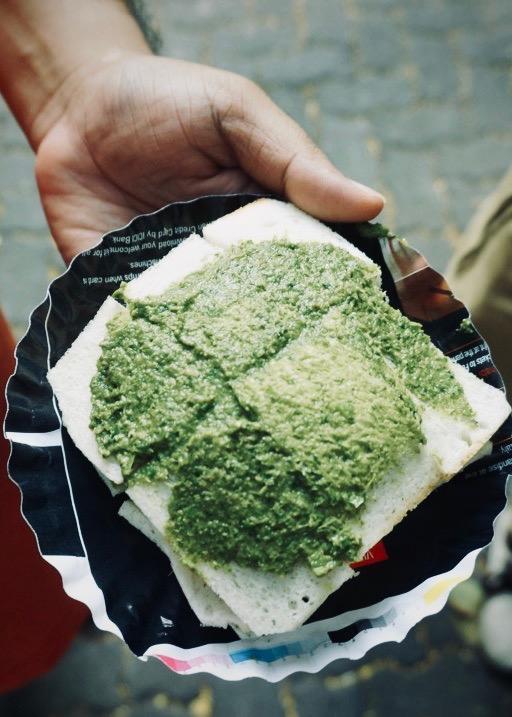 Bombay Green Chutney Sandwich-very spicy