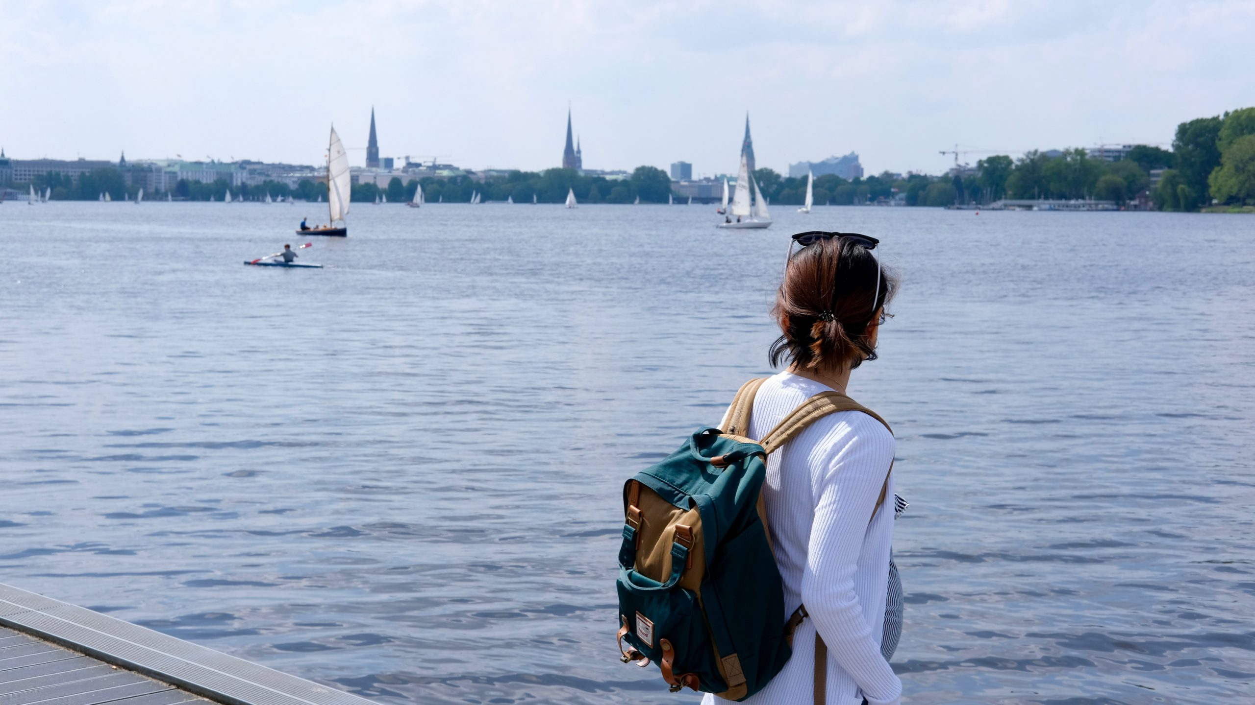 Ying at the Alster, Hamburg