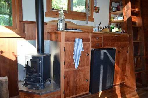 Hobbit Stove in Tiny House