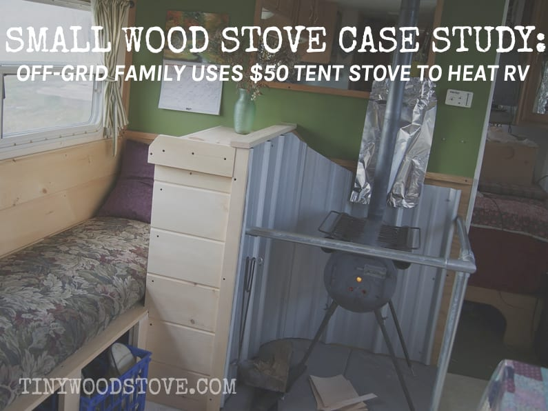 tent stove in RV