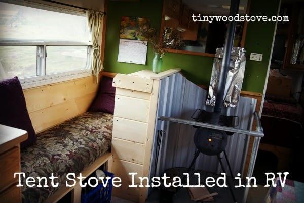 small tent stove in RV