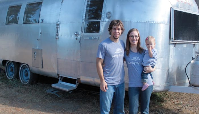 The Peterson's Simple Airstream House on Wheels @livinlightly