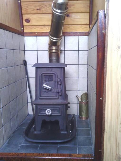 Pipsqueak stove in boat