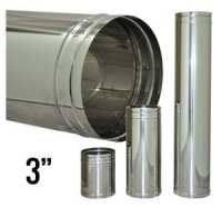 3 Stainless-Steel Flue Pipe | Tiny Wood Stove