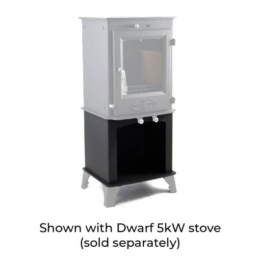 5kW Wood Storage Stand with Dwarf 5kW Stove and Standard Legs