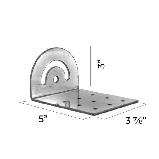4 inch roof support bracket adjustable L bracket dimensions