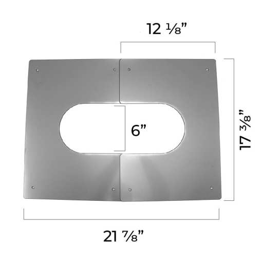 4 inch interior trim plate dimensions fully extended