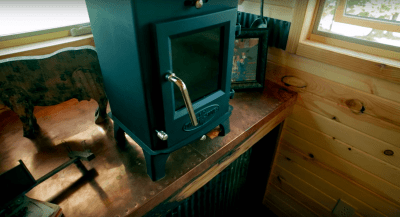 Dwarf 4kw wood stove on HGTV's Tiny House Big Living.
