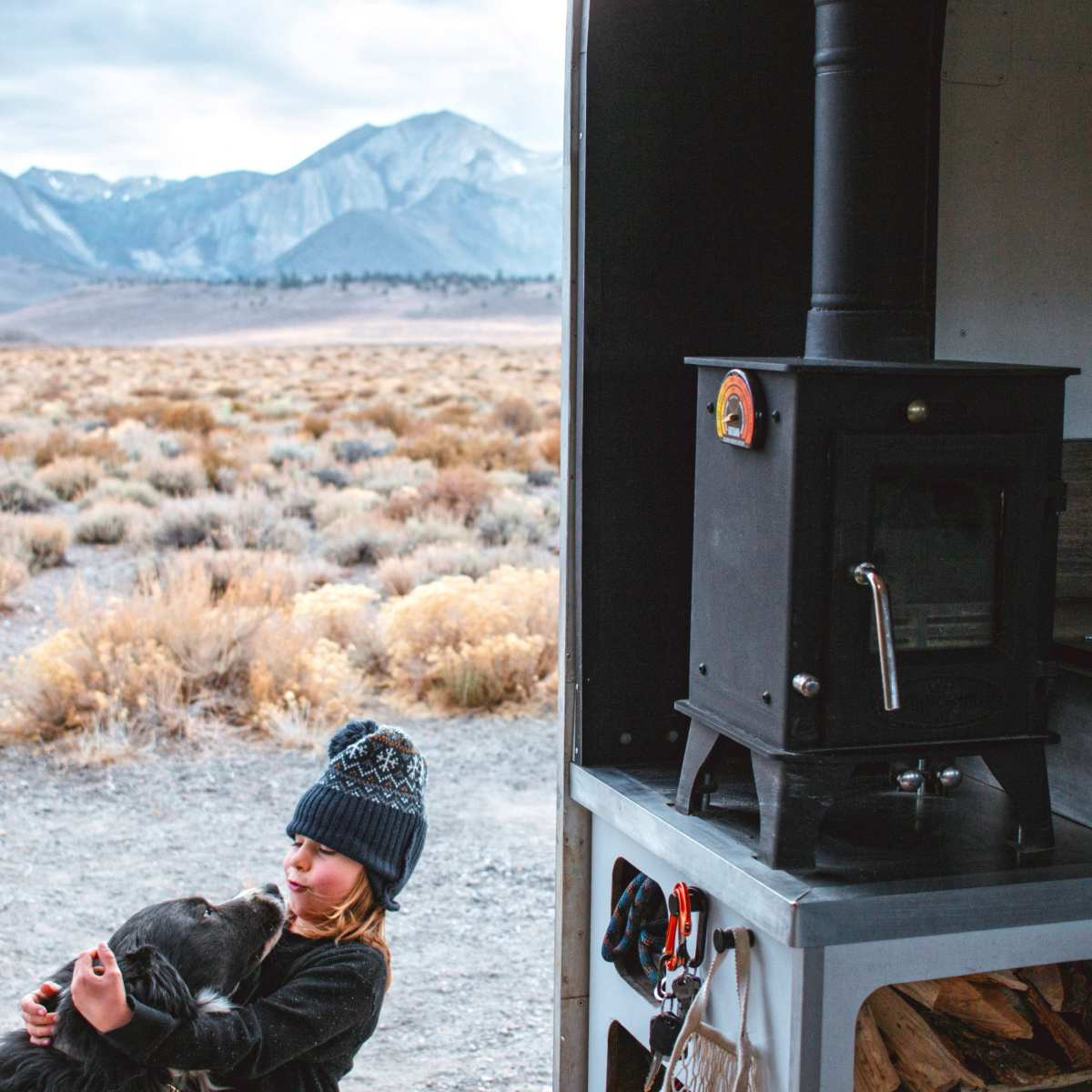 heating with a wood stove in cold and moist climates