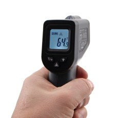 Infrared Thermometer in Hand