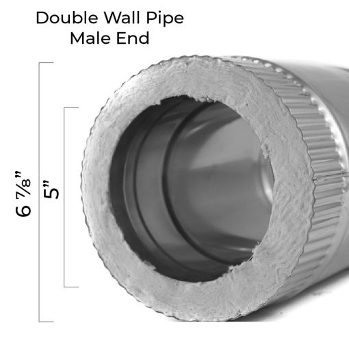 5 Inch Insulated Pipe Top Dimensions