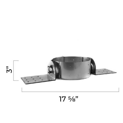 5 Inch Roof Support Bracket Side Dimensions
