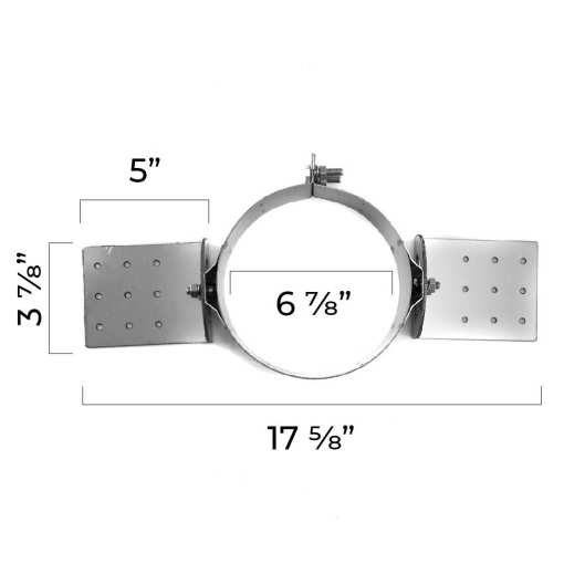 5 Inch Roof Support Bracket Top Dimensions
