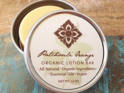 patchouli orange organic vegan lotion bar