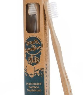 Single Kid Sized Bamboo Toothbrush