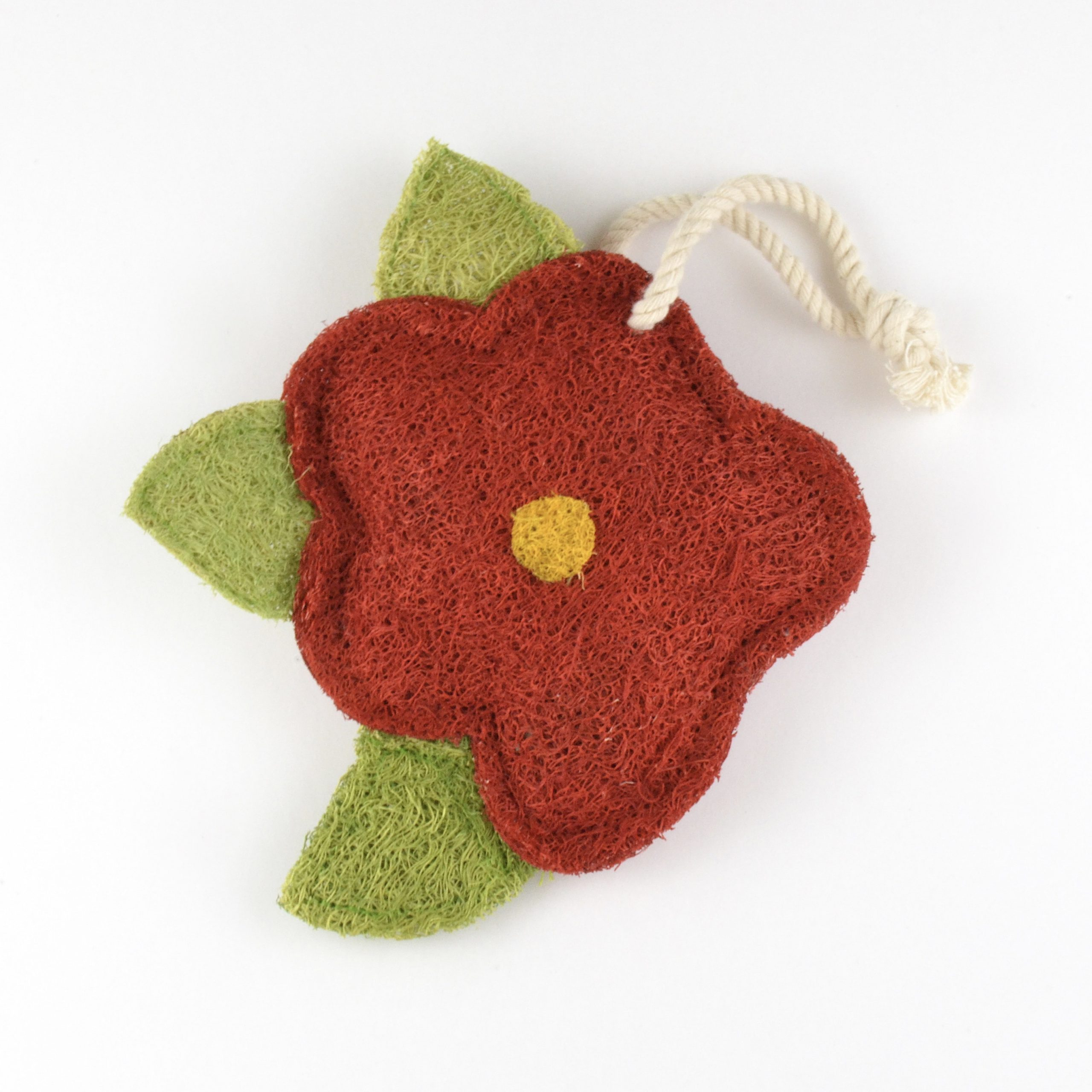 Hibiscus Flower Natural Loofah Kitchen Scrubber Tiny Yellow Bungalow