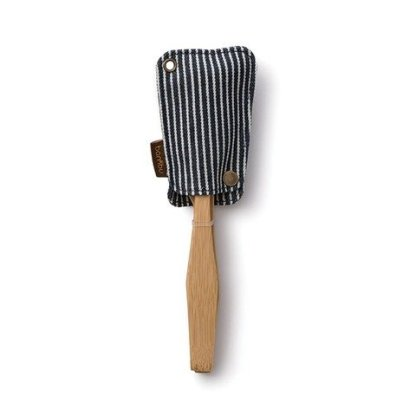 Bamboo Travel Utensil Set Organic Cotton Stripe