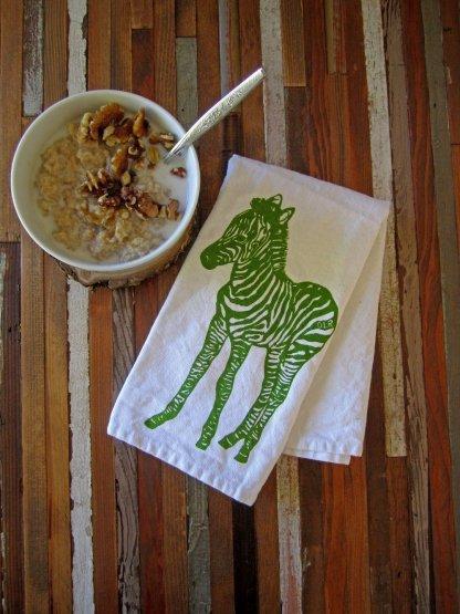 zebra cloth napkin