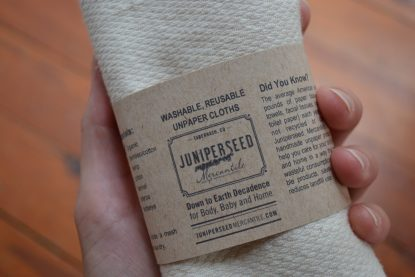 Organic Unbleached Cotton Unpaper Towels