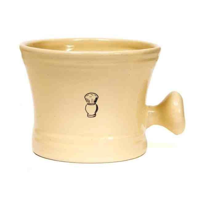 porcelain shaving mug