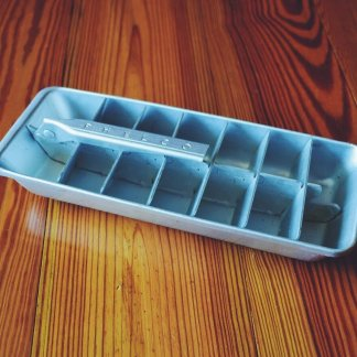 vintage metal ice cube tray