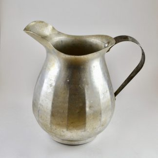 vintage metal pitcher