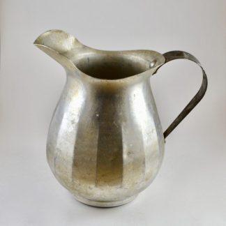 vintage metal pitcher