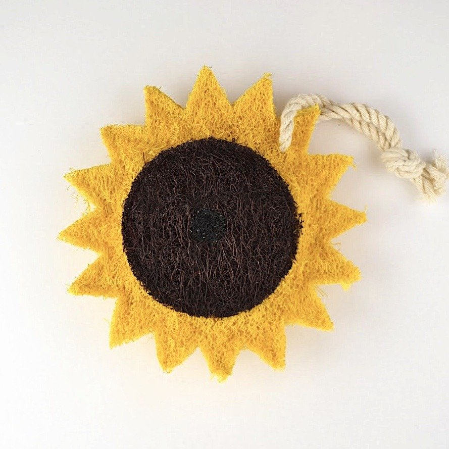 sunflower natural kitchen loofah scrubber