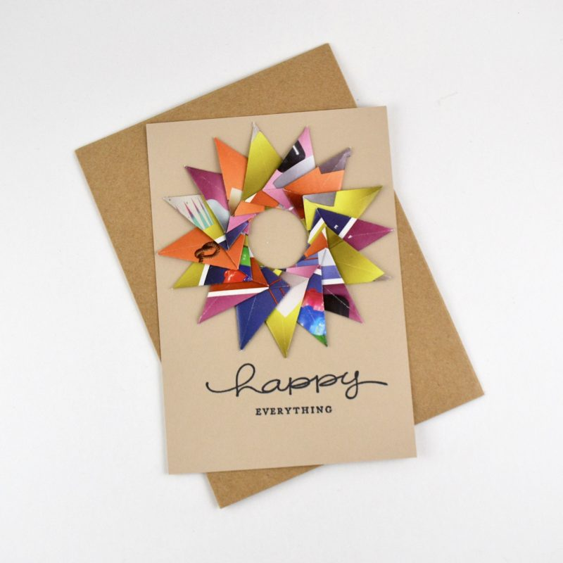 Eco-friendly-Watercolor-Handmade-Birthday REUSABLE Greeting Card 100/% Recycled Paper