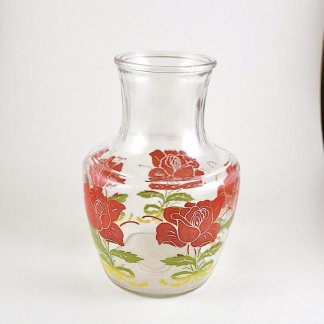 Floral Glass Juice Jug
