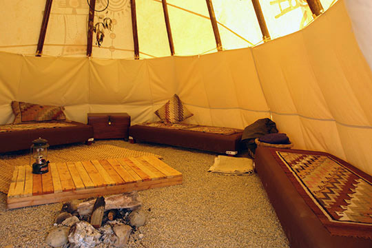 Tipi Interiors  Nomadics Tipi Makers