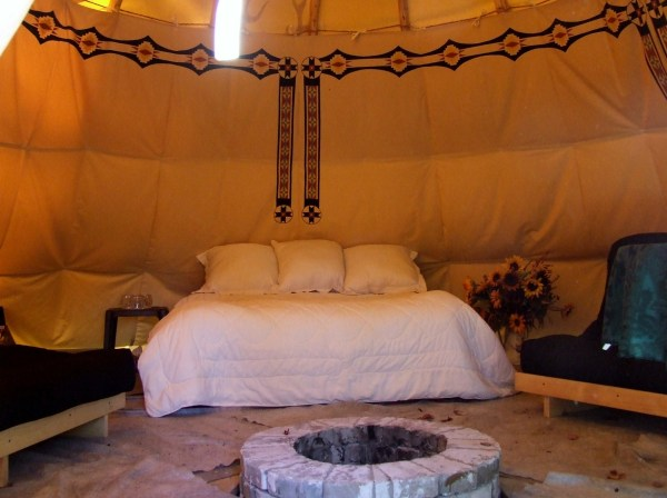 Tipi Size - 20ft 9ft Liner With Double Bed