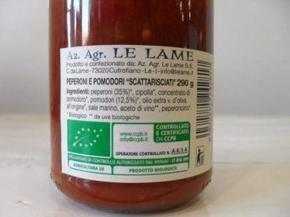 Peperoni e pomodori scattarisciati - Le Lame