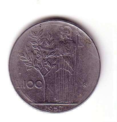 olivo e minerva 100 lire