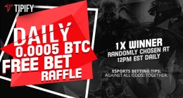 Enjoy Tipify's Daily Free Bet Raffle And Monthly Competitions