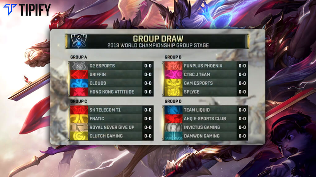 LoL Worlds 2019 Finalizes Main Event Groups - Tipify