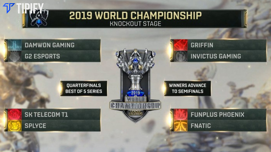 LoL Worlds Knockout Stage Matchups Revealed - Tipify