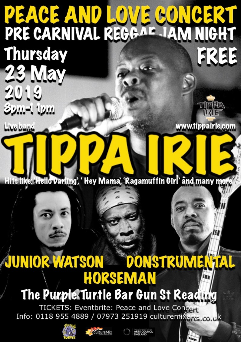 Peace and Love IV Tippa Irie Turtle flyer FINAL