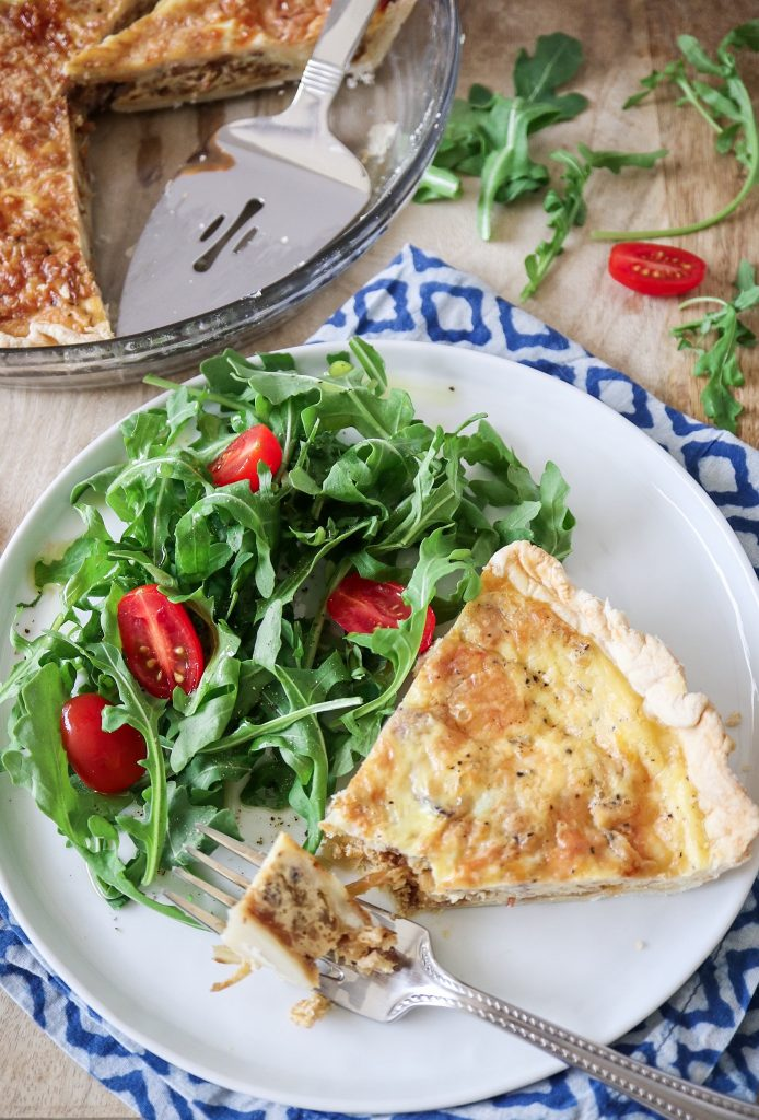 Caramelized Onion and Bacon Quiche