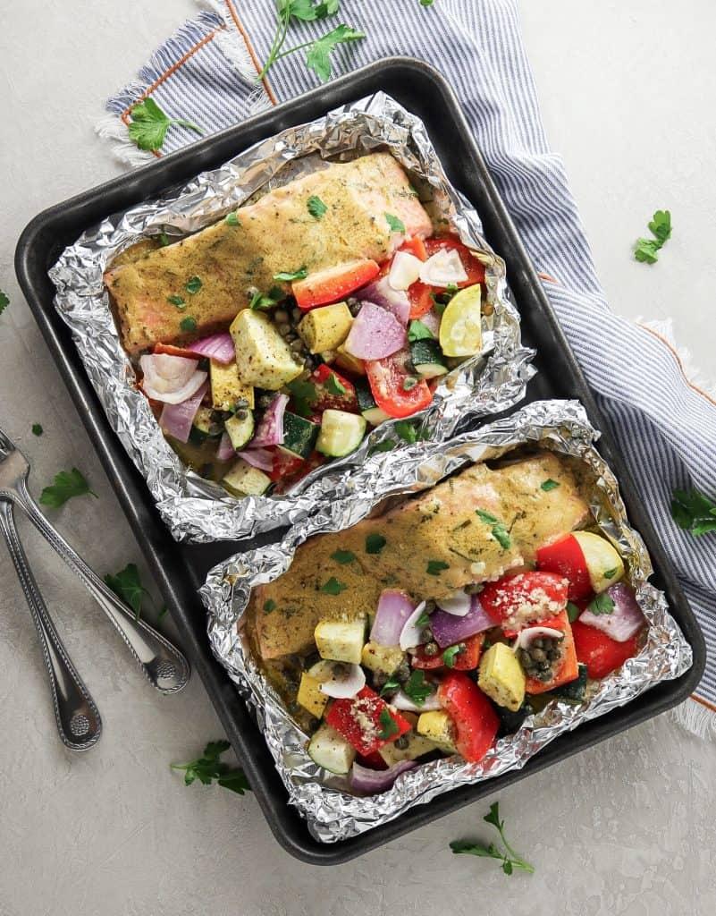 Dijon Tarragon Salmon Foil Packs