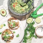 Crockpot Chicken and Spinach Tostadas