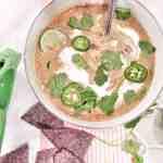 Crockpot Green Chile Chicken Soup
