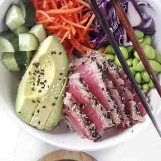 Sesame Crusted Ahi Tuna Bowls